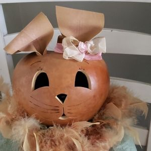 None Holiday - Meadowbrook Gourd Large Bunny Light Up Gourd